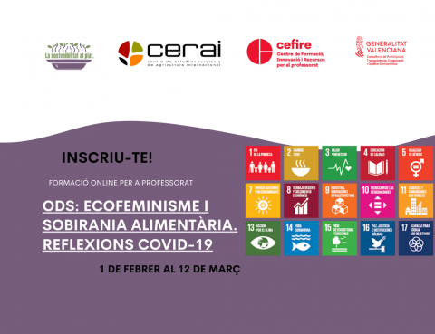 Curso CEFIRE: ODS: Ecofeminisme i sobirania alimentària. Reflexions COVID-19