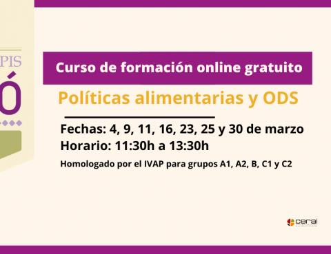 Curso online: Políticas alimentarias y Objetivos de Desarrollo Sostenible
