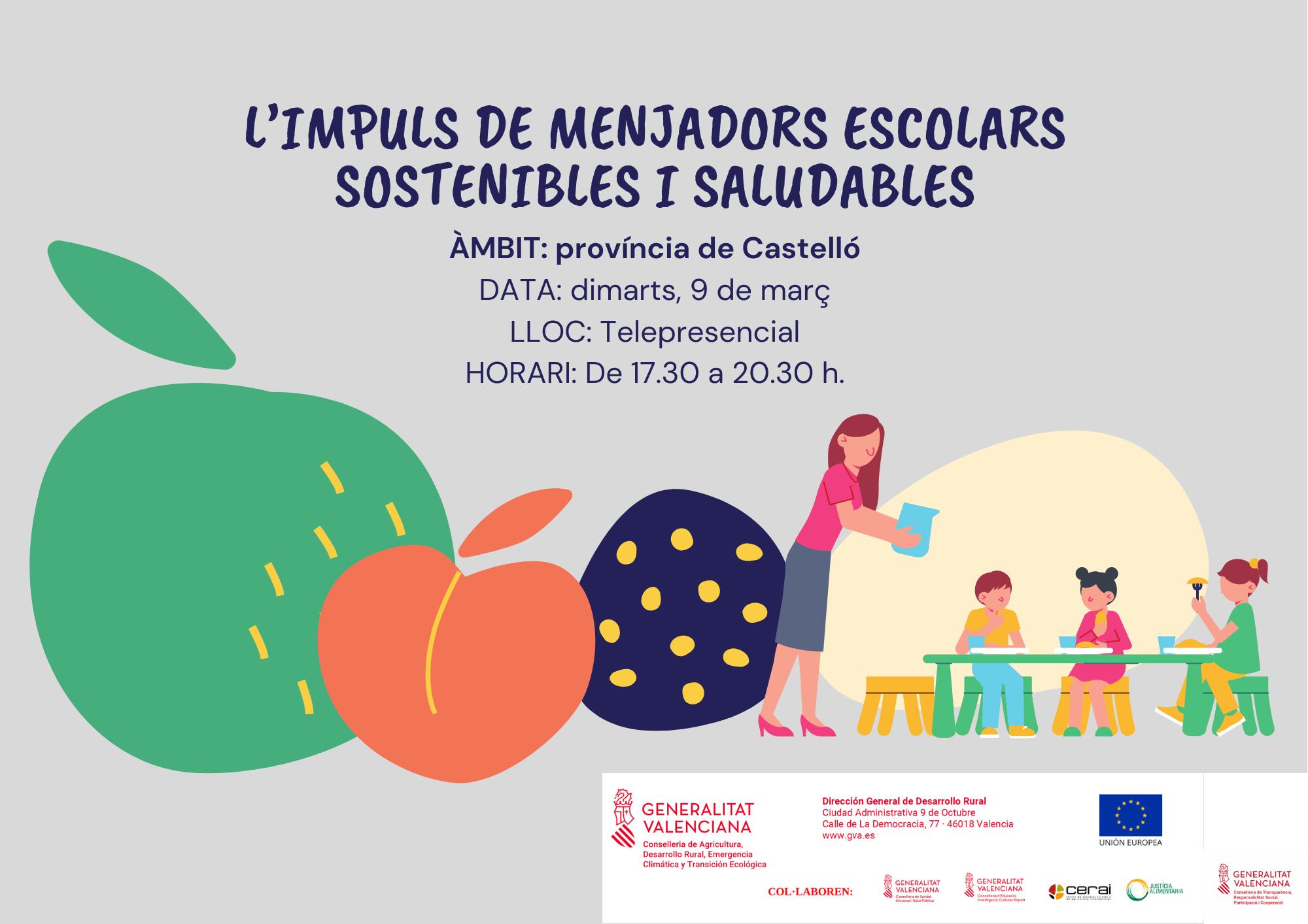 Jornada: L'impuls de menjadors escolars sostenibles i saludables
